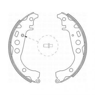 Тормозные колодки, барабанные C02059ABE