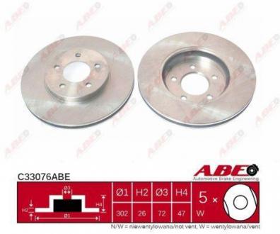 C33076ABE ABE Тормозной диск