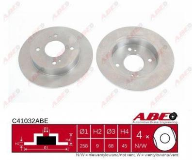 C41032ABE ABE Тормозной диск