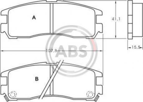 Тормозные колодки дисковые 1 комплект A.B.S. 36690