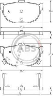 Тормозные колодки дисковые 1 комплект A.B.S. 36692