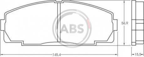 Тормозные колодки дисковые 1 комплект A.B.S. 36702