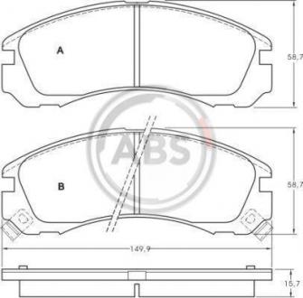 Тормозные колодки дисковые 1 комплект A.B.S. 36753