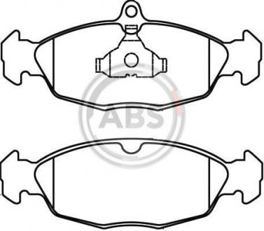 Тормозные колодки дисковые 1 комплект A.B.S. 36771