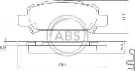 Тормозные колодки дисковые 1 комплект A.B.S. 37164