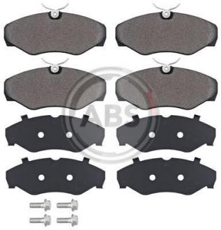 Тормозные колодки дисковые 1 комплект A.B.S. 37287