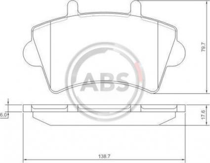 Тормозные колодки дисковые 1 комплект A.B.S. 37290