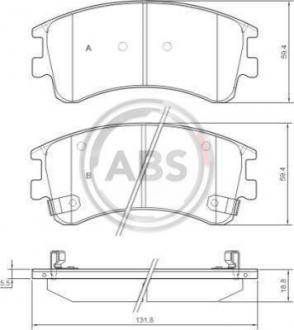 Тормозные колодки дисковые 1 комплект A.B.S. 37381