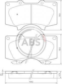 Тормозные колодки дисковые 1 комплект A.B.S. 37420