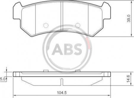 Тормозные колодки дисковые 1 комплект A.B.S. 37461