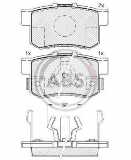 Тормозные колодки дисковые 1 комплект A.B.S. 37510