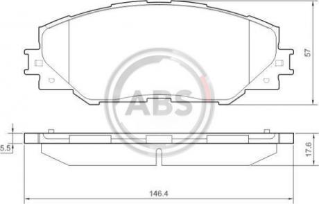 Тормозные колодки дисковые 1 комплект A.B.S. 37543