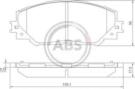 Тормозные колодки дисковые 1 комплект A.B.S. 37544