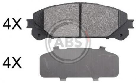 Тормозные колодки дисковые 1 комплект A.B.S. 37844
