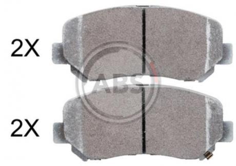 Тормозные колодки дисковые 1 комплект A.B.S. 37929