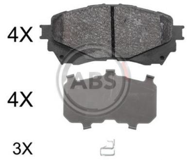 Тормозные колодки дисковые 1 комплект A.B.S. 37977