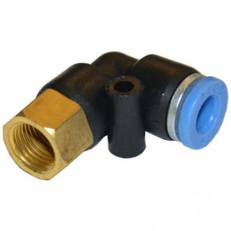 """Соединитель пневматический цанговый Г-образный 8мм*1/2"""" AIRKRAFT SPLF08-04"""
