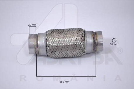Гофра глушителя 50*150 MM 60096