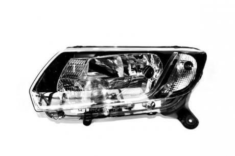 Фара левая черн отраж механ Renault Logan іі, Sandero іі (80978) ASAM