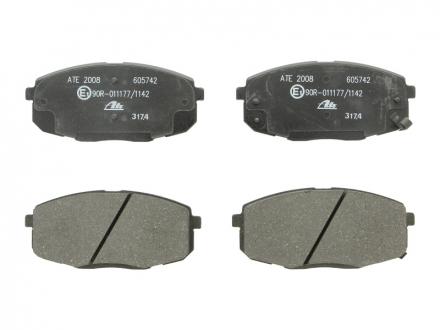 Комплект тормозных колодок, дисковый тормоз 13.0460-5742.2