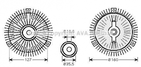 Вискомуфта MERCEDES-BENZ (Пр-во AVA) MS C417