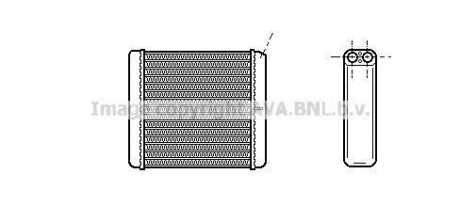 OPEL CALIBRA 6/90- Радиатор печки (прав. руль) +AC [OE. 1843106 - 90399229] OL 6206