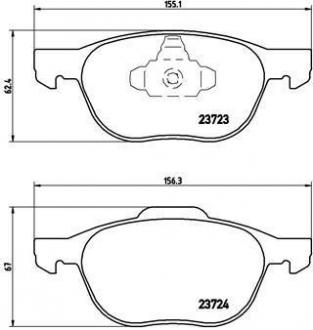 Тормозные колодки дисковые P24061