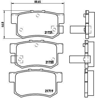 Тормозные колодки дисковые P28022