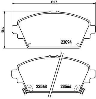 Тормозные колодки дисковые P28029