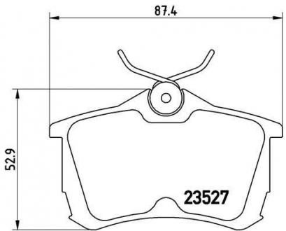 Тормозные колодки дисковые P28030