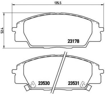 Тормозные колодки дисковые P28032