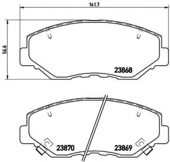 Тормозные колодки дисковые P28035