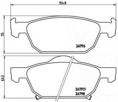 Тормозные колодки дисковые P28044