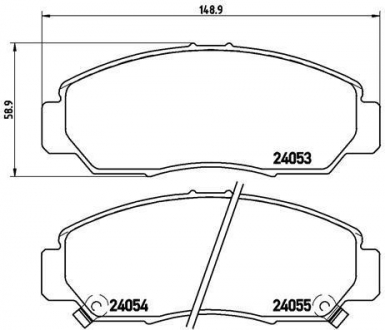 Тормозные колодки дисковые P28047