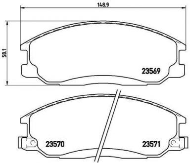 Тормозные колодки дисковые P30013