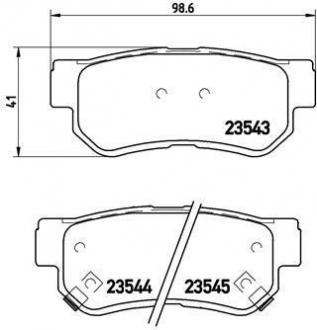 Тормозные колодки дисковые P30014