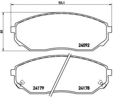 Тормозные колодки дисковые P30019