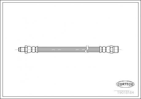 Тормозной шланг Corteco 19018184
