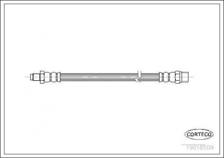 Тормозной шланг Corteco 19018509