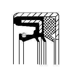 Сальник резинометаллических 20029154B