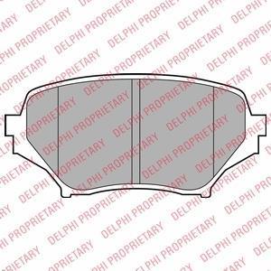 Колодки тормозные дисковые LP2026