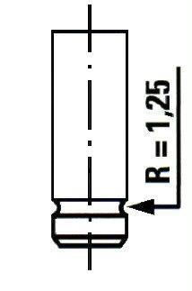 VE0127 ET ENGINETEAM Выпускной клапан