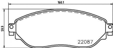 Тормозные колодки перед. Trafic / Vivaro 14- 8DB355021-891