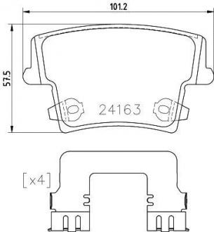 Тормозные колодки зад. Chrysler 300c 04- 8DB355025-051