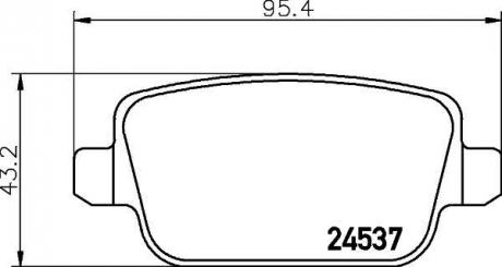 Тормозные колодки зад. Focus / Galaxy / Kuga / Mondeo / S80 / V70 / XC70 06- 1.6-4.4 8DB355025-351