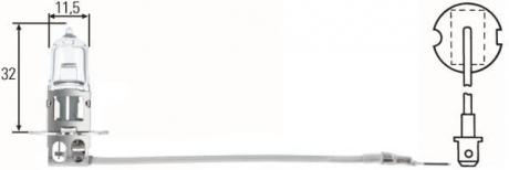 Лампа противотуманной фары H3 12V 55W HELLA 8GH-002090-131