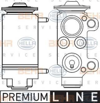 Клапан кондиционера расширительный 8UW 351 234-131