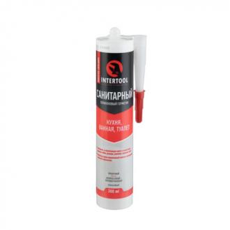 Герметик силиконовый санитарный, прозрачный, 300мл/320г INTERTOOL FS-3030