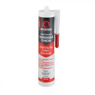 Герметик силиконовый универсальный, прозрачный, 300мл/320г INTERTOOL FS-3050