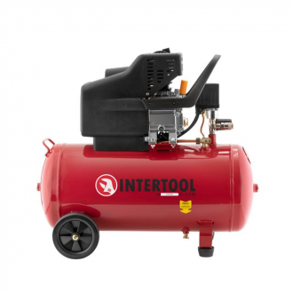 Компрессор 50 л, 1.5 кВт, 220 В, 8 атм, 206 л/мин. INTERTOOL PT-0003